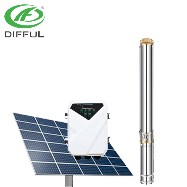 600W Solar Water <strong>Pump</strong> For Irrigation 48v DC Brushless Submersible Deep Well <strong>Pump</strong>
