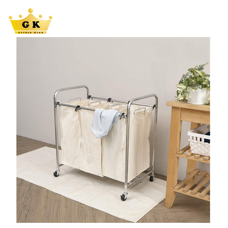 Laundry Trolley With Wheels Multifunction Hotel Laundry Cart