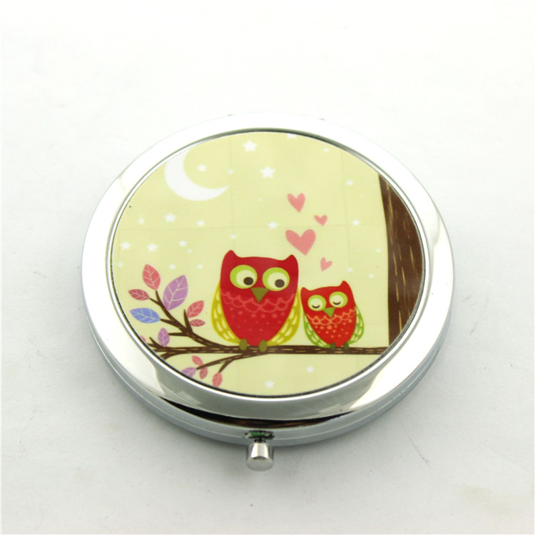 Folding Mini Portable Pocket Mirrors, Foldable Metal Travel Compact Mirror With Competitive Price