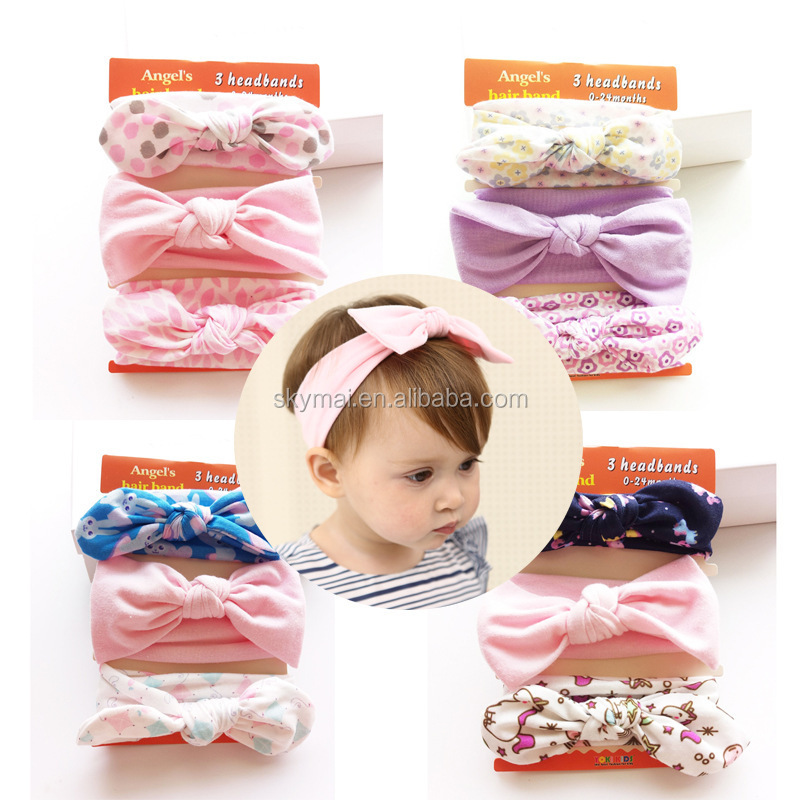 Cute Set Angel's bow baby girl hair bands embellished hairband hair accessories for kids