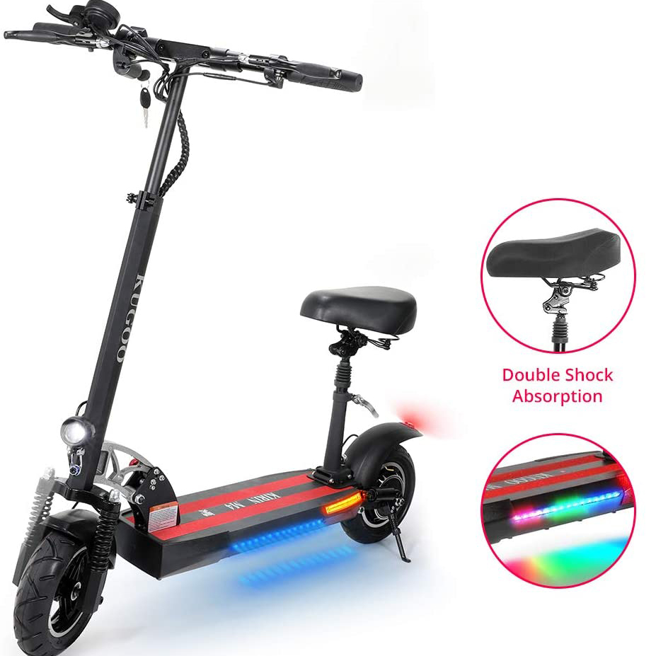 EU Free Duty 43km/h 45km Long Range 3 Speed Modes Dual Disc Brake 500W Motor Folding Adult <strong>Electric</strong> Offroad E Scooters with Seat