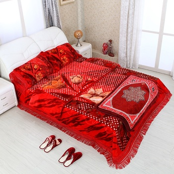 Wholesale blankets 220x240cm made in China quality turkish bedding set