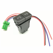 12V led1 led2 verde azul led push on off botão duplo abs off switch para carro LC100 39 * 21mm