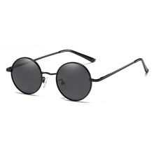 Wholesale low price 2018 fashion classical metal polarized round frame sun glasses for man