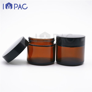 2019 popular round classic amber cream glass jar 60ml 2oz for hands