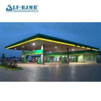 China factory best design steel structure gas station construction by XUZHOU LF