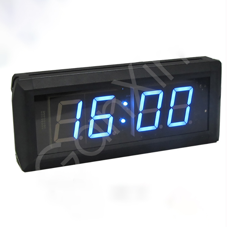Wholesale High Quality Electronic Aluminium Alloy Blue Led Wall Clock