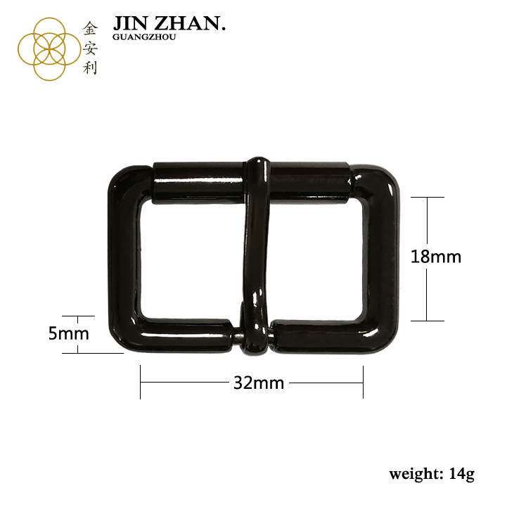 4.0 by 32mm by 18mm metal zinc alloy Pin Clasp reversible belt buckle for bag accessories