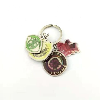 Small painting souvenirs Custom Enamel Logo Metal Keychain with epoxy