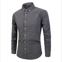 Hot Selling New Fall <strong>Men</strong> Clothing Long Sleeve Lapel Stripe Slim Fit Cotton <strong>Men</strong> Dress <strong>Shirts</strong>