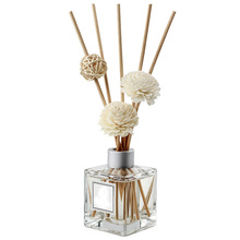Avertan 50ml 100ml 200ml square glass bottle aromatherapy aroma reed diffuser bottle