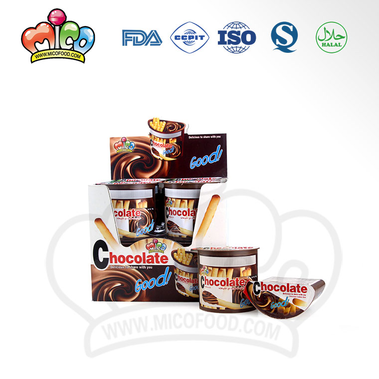 High Quality Chocolate Sauce Finger Biscuit Chocolate Cup
