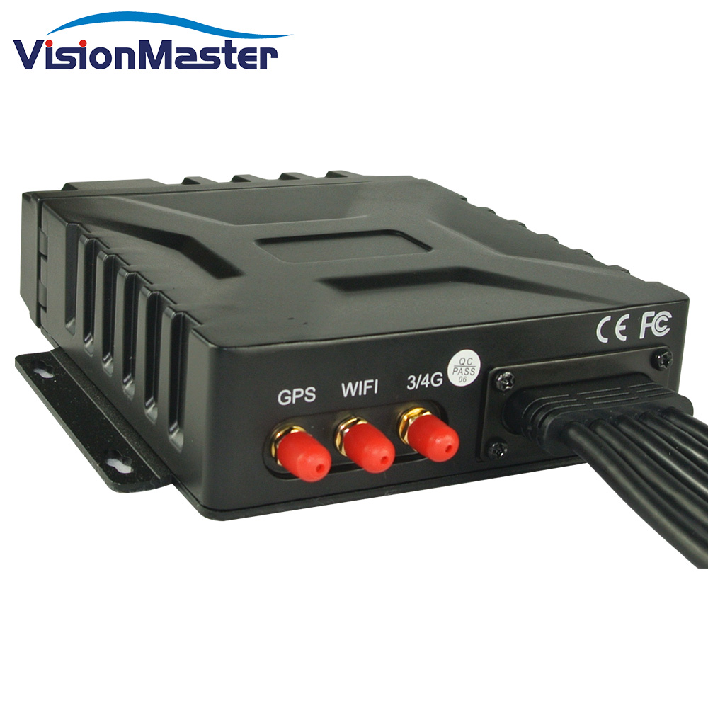 4 Channel Mobile <strong>DVR</strong> 720P Video Recorder System 2T HDD Storage with GPS 3G Wifi Waterproof
