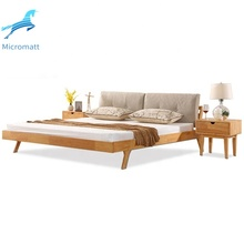 Factory direct modern bedroom <strong>furniture</strong> 150cm queen size wood double bed frame with factory prices