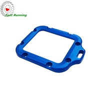 high demand hot selling cnc milling parts blue anodizing aluminum led light casing