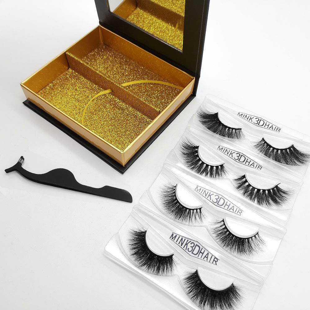 top quality natural eyelashes real mink fur lashes and custom package