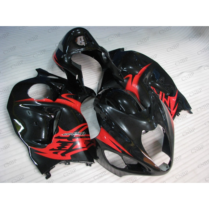 HAYABUSA <strong>01</strong> <strong>02</strong> Fairing Kits Gsx 1300R 2003 Motorcycle Fairing GSXR 1300 1997 - 2007 Fairing Kits Red Black