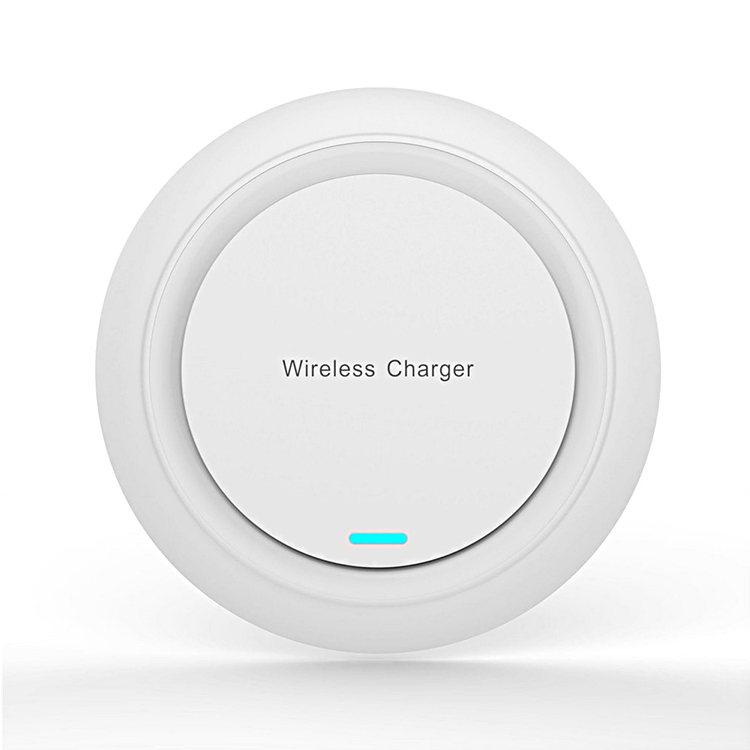White Wireless Charger <strong>Mobile</strong> <strong>Phone</strong> Qi Round Ultra Thin 10W