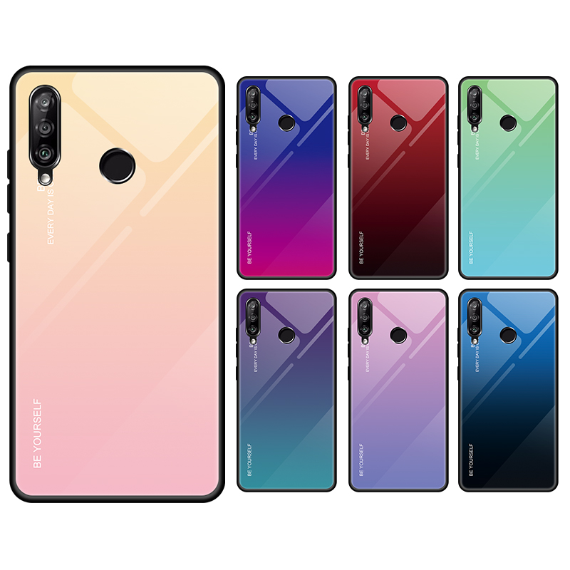 Gradient Tempered Glass Glossy Cover Case For HUAWEI Enjoy 9S/<strong>P</strong> Smart plus 2019/Honor 10i/20i