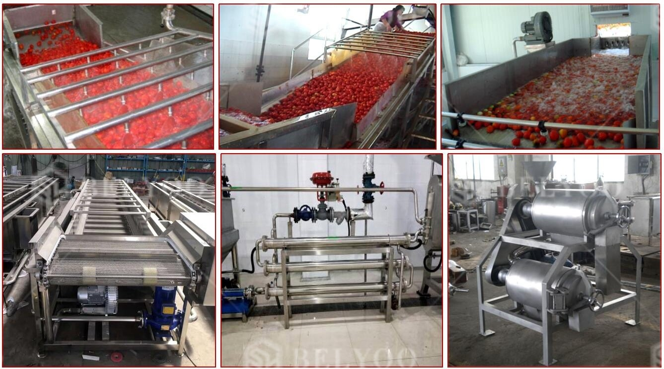 Automatic Tomato Puree Making Processing Tomato Ketchup Machine