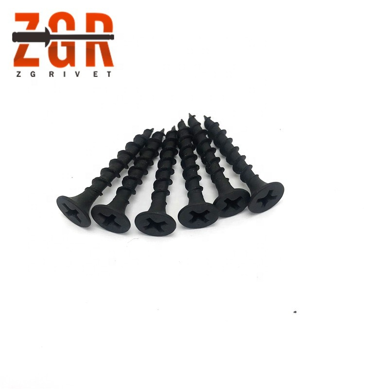 Tianjin factory 3.5x25mm <strong>black</strong> <strong>drywall</strong> <strong>screw</strong>