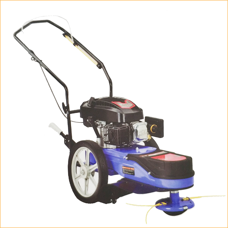 CG51Y Gasoline 4 Stroke Wheeled Hand Push Brush Cutter Grass String Trimmer Mower Cutting Machine For Garden With Double Wheels