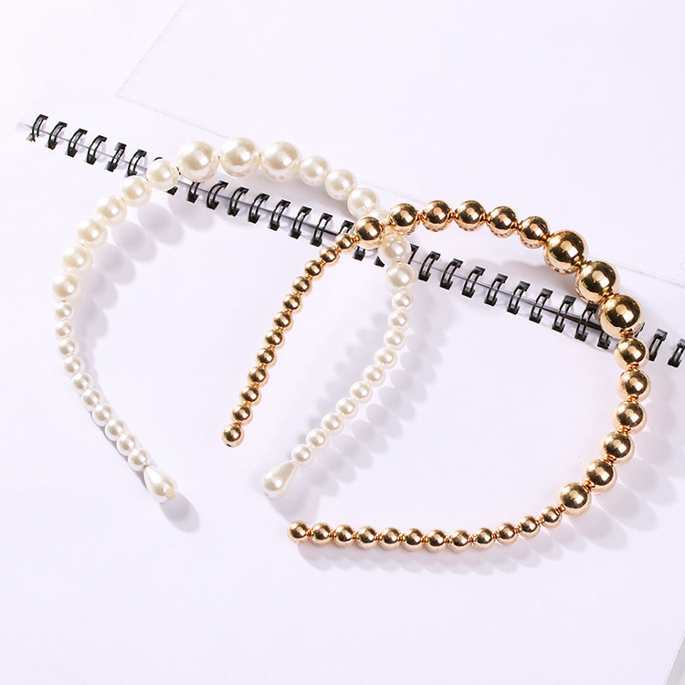 Trendy Luxury Big Pearl Headband for Women Elegant Headband Wild Personality Fashion Bezel Turban Girls Hair Headwear