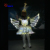 Full Color LED Insects Wings Fairy Dress Costumes Stage Performance Props Costume For Female & Kids