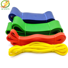 Nature Pure Latex resistance bands fitness power training strength loop pull up bands rubber expander band