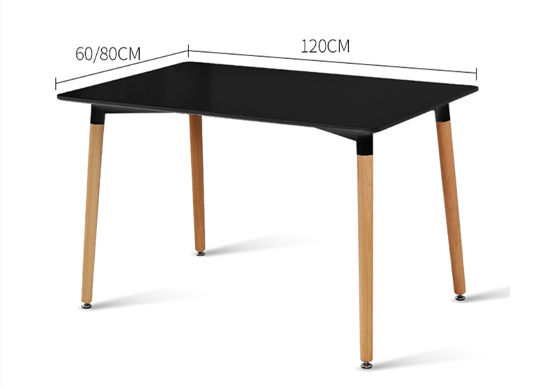China manufacturers dining furniture wholesale high gloss MDF modern dining room table with beech wood legs