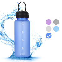 32oz 100% BPA Free Leakproof Plastic Drinking Water Bottle Frosted Sports Tritan Water Bottles With Handle Lid And Custom Logo