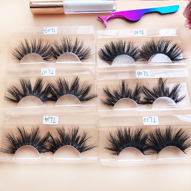lashes3d wholesale vendor bulk eyelashes 3d 25mm mink eyelash with packaging box