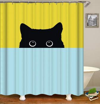 Cat Curtain Shower Custom,Extra Long Shower Curtain Children'S Bathroom/