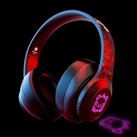 BH10 LED RGB Computer gaming over ear BT 5.0 Blue tooth headsets stereo headphones audifonos bluetooth earbuds with microphone
