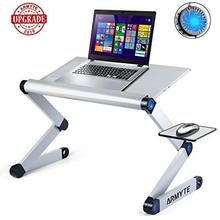 2019 Upgraded Sturdier Ultra-Large Adjustable Laptop Stand Foldable Aluminum Laptop Desk/<strong>Table</strong> for Bed/Sofa