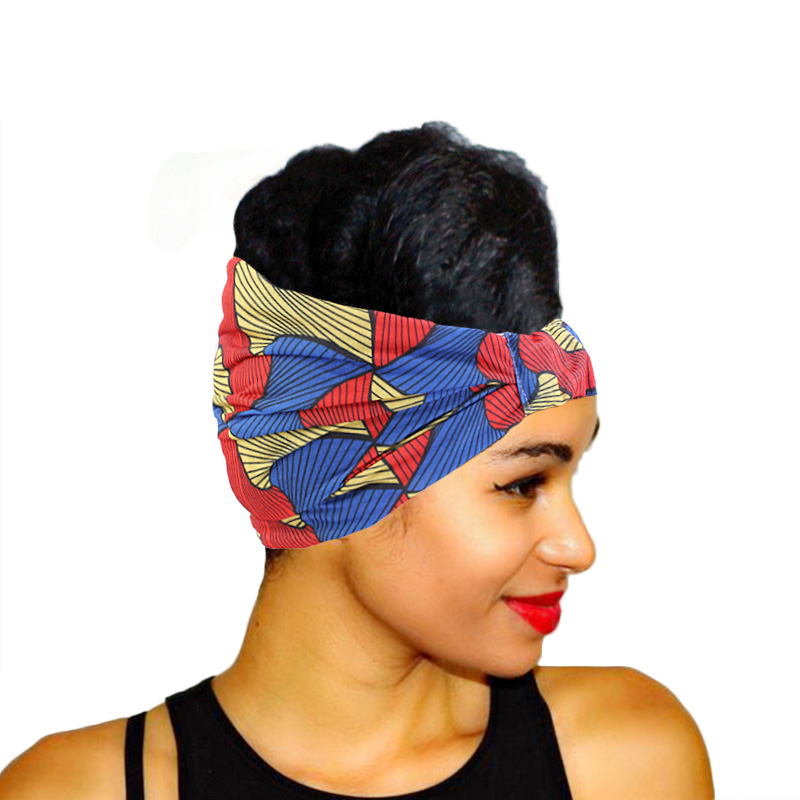African Style Print Headbands For Women Knot Turban Bandage Bandanas Elastic <strong>Hair</strong> Rope <strong>Hair</strong> <strong>Accessories</strong>