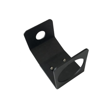 Custom Design Black Powder Coating Aluminum Stamping Punching Bending Bottle Support Bracket