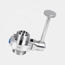 Donjoy sanitary <strong>stainless</strong> steel durable threaded manual butterfly valve for oil