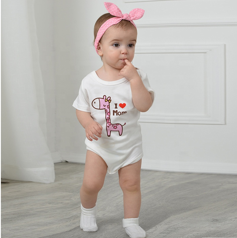 China factory oem/odm cartoon baby clothing jumpsuit wholesale <strong>cotton</strong> unisex baby clothes rompers set with logo/color/size