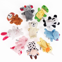 Custom Cheap Baby Play Plush Toys Cartoon Animal Happy Family Finger Puppet