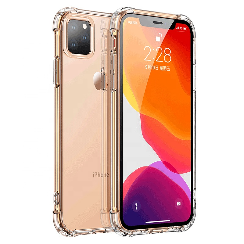 Mobile phone accessories soft 360 shockproof corner clear tpu pc phone case for iphone 11pro/<strong>11</strong>/7/8 Plus X XS Max