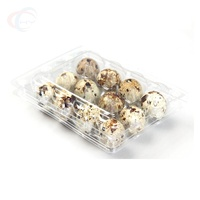 Cheap 12 Cells Clear Plastic Quail Egg Tray