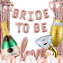 Bridal Shower &amp; Bachelorette Party Decorations Kit, Hen Party <strong>Supplies</strong>, Bride to Be Rose Gold Balloon Set 32 Pcs KK203