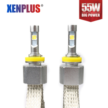 XENPLUS 110 <strong>W</strong> Brightness H11 6600LM 6000K XHP-70 Chips fog lights single beam L7 Car driving headlight