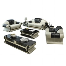 Living room 123 sectional sofa set Dubai Modern <strong>Furniture</strong> from Canton Fair High Quality Black Leather sofa