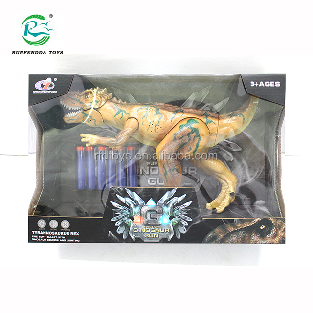 Toy Dinosaurs Foam Dart Gun Realistic Electronic LED Light Up Model Toys