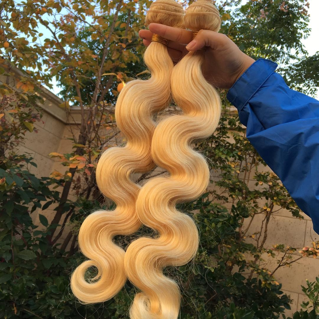Haiyi Hair Wholesale Price Provide Sample Cuticle Aligned Virgin 100% Human Hair Blonde Hair Extension