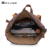 British design vintage stylish outdoor Camping hiking waterproof waxed canvas leather bagpack backpack back pack rucksack bag
