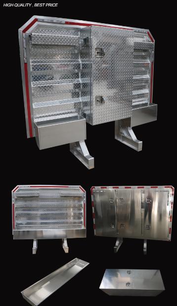 Aluminum Headache Rack Cab Guard w/ Center Enclosure & Tarp Tray