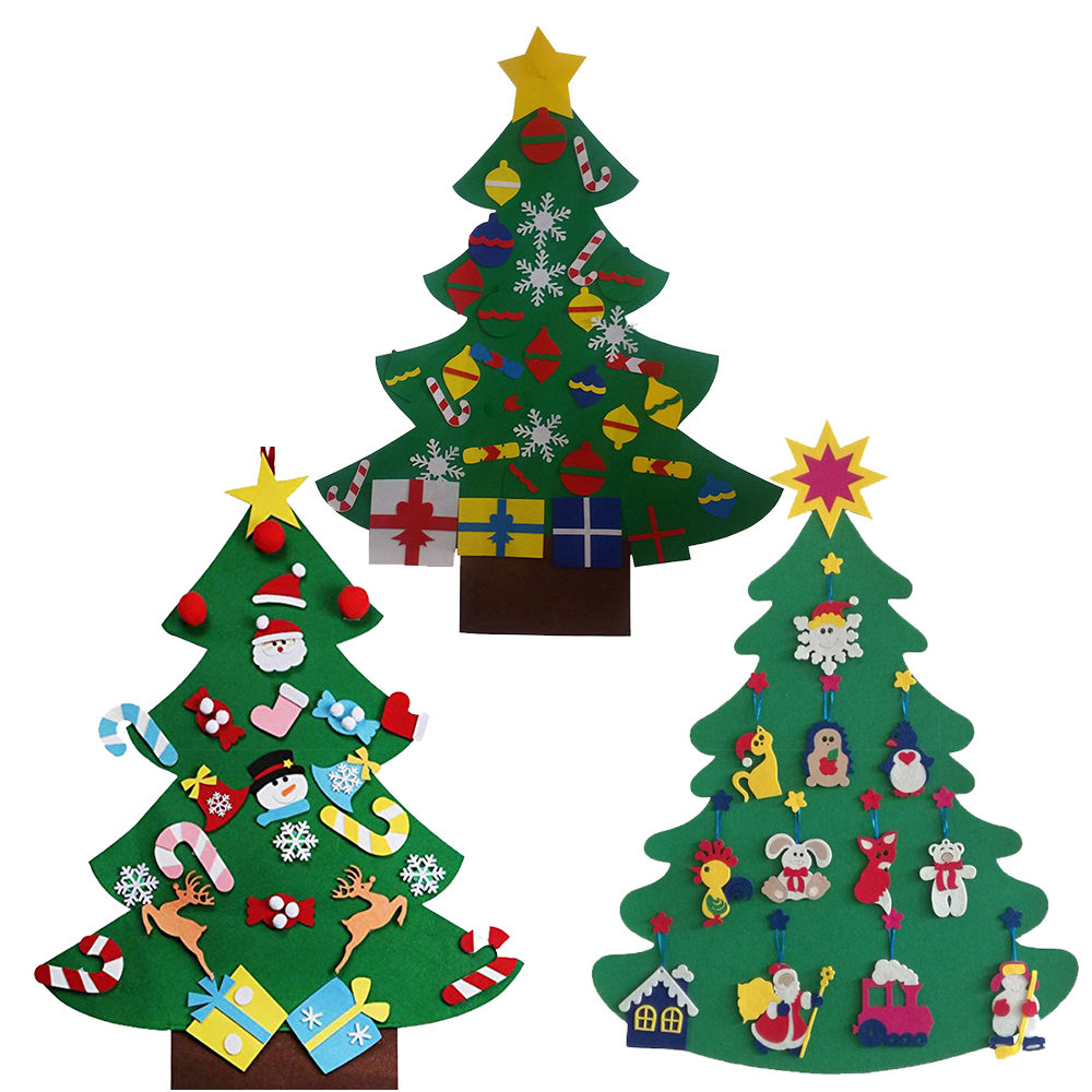 2019 new models diy <strong>christmas</strong> ornaments/ decoration Felt <strong>Christmas</strong> Tree for kid gift